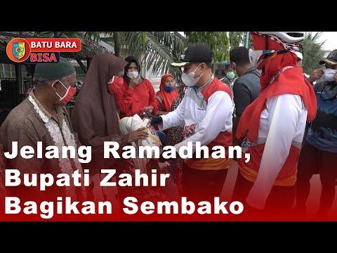 Jelang Ramadhan, Bupati Zahir Bagikan Sembako