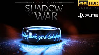 Middle-earth: Shadow of War 4K Ultra-HD HDR Playstation 5 / PS5 Gameplay