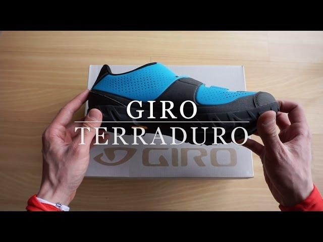 Видео Велотуфли Giro Terraduro сине-черные