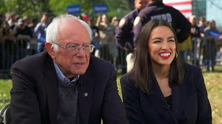 """Could AOC be Bernie Sanders' running mate? """"I think I'm too young for that,"""" she says"""