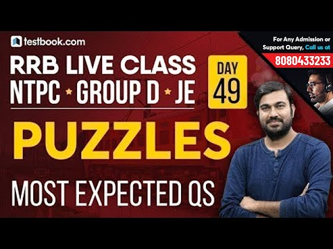Most Expected Puzzle Reasoning Questions for RRB Group D