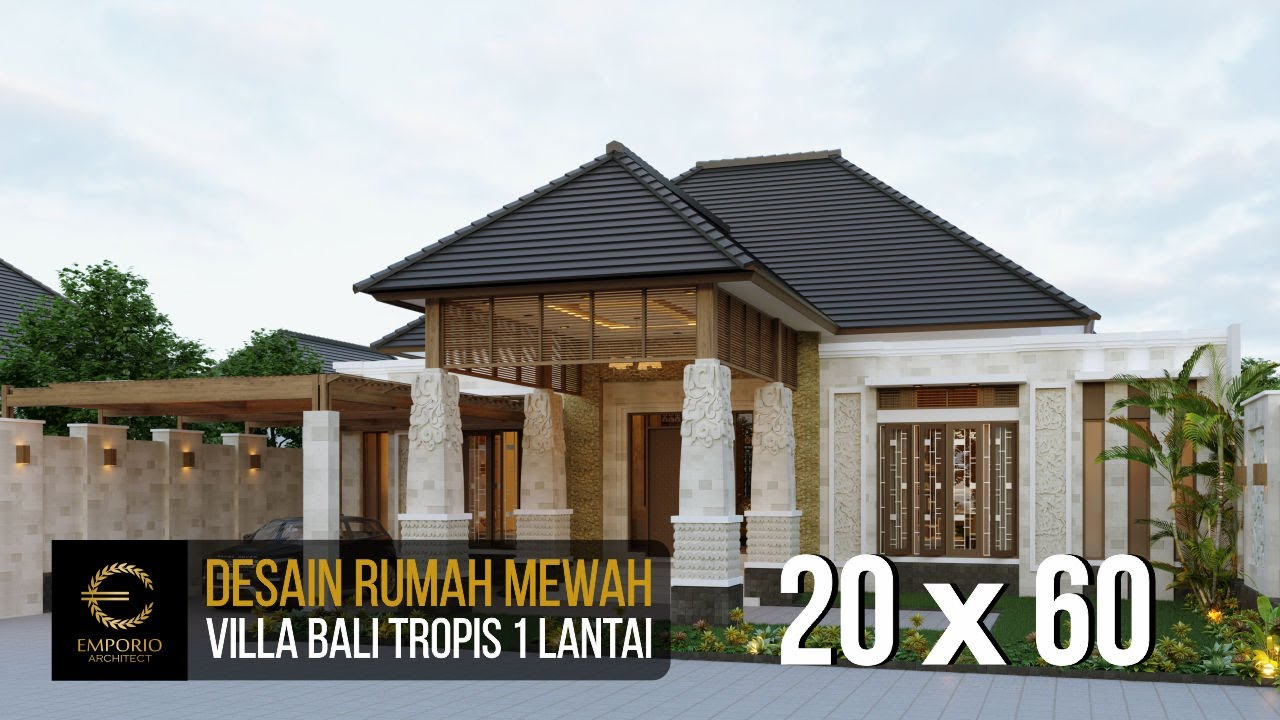 Video 3D Mr. Jon Villa Bali House 1 Floor Design - Pekanbaru, Riau