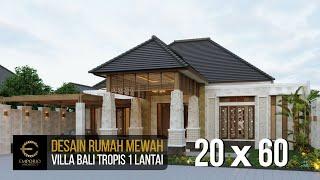 Video Desain Rumah Villa Bali 1 Lantai Bapak Jon di  Pekanbaru, Riau