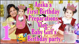 First Birthday Prepration Vlog Anika's Birthday Party Singapore Life SuperPrincessjo