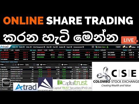 How To do ONLINE SHARE TRADING on ATRAD | Online Share Trading කරන හැටි මෙන්න