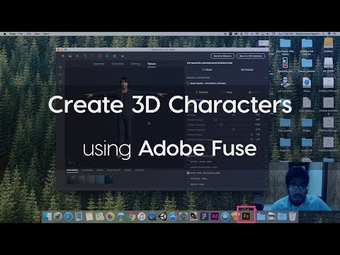 How to create 3D characters using Adobe Fuse
