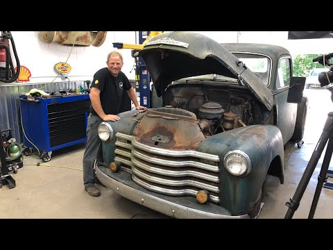 Will It Run? 1950 Chevy pickup pulled from the forest   Redline Update LIVE