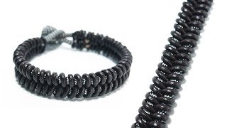 How To Make A Leather Fishtail Bracelet Tutorial | Leather And Paracord Bracelet