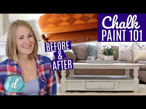 DIY FARMHOUSE TABLE ❤️ Best Way To Chalk Paint Furniture! Mp3
