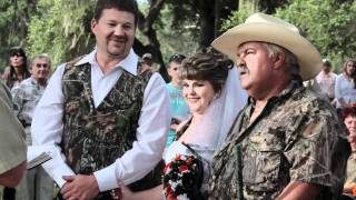 Amber & Shane Camouflage Wedding