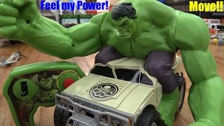 Super Hero Toys: Marvel Avengers Remote Control HULK Smash Playtime! The HULK!