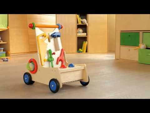 HABA Lauflernwagen Werkelzwerg - Walker Wagon Carpenter Pixie