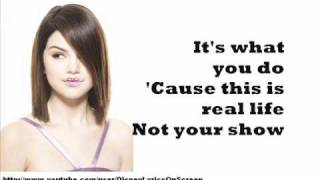 Selena Gomez & The Scene - Crush - Lyrics On Screen