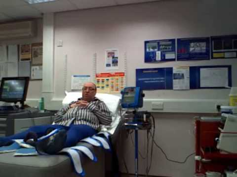 John Crawford has his EECP treatment in Bradford Royal Infirmary Part 2
