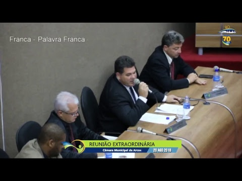 Reunião Ordinária (20/08/2018) - Câmara de Arcos
