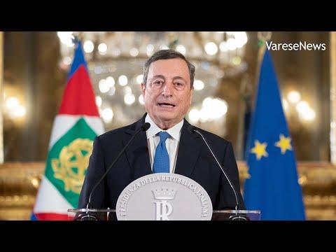 """Mario Draghi al Quirinale: """"Governo per vincere la pandemia e rilanciare l'Italia"""""""