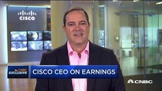 CEO Chuck Robbins breaks down Cisco's exposure to the trade war