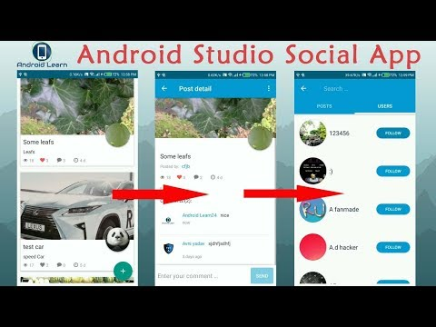 How to make social media app in android studio