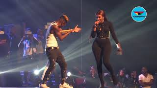 Reign Concert: Shatta Wale kisses Wendy Shay's butt on stage