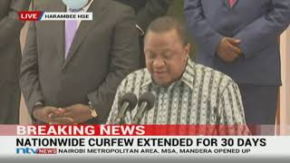 President Uhuru Kenyatta has announced phased reopening of the