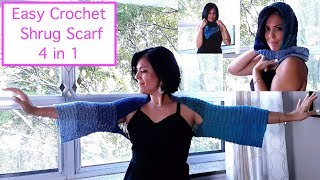Crochet The Shrug Scarf (4 In 1)   -   The Stitch Sessions #56