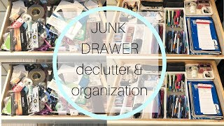 Decluttering And Organizing My Junk Drawer   Clean With Me   Cleaning Motivation