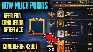 How Many Points Are Required To Reach Conqueror ?   Conqueror   PUBG Mobile   How To Push Conqueror