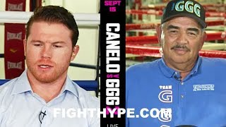 CANELO CHECKS GOLOVKIN TRAINER SANCHEZ; WARNS HE'LL SHUT HIM UP, TRAINER SAYS