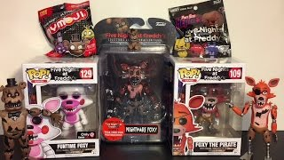 Five Nights at Freddy's Series 2 Nightmare Foxy Figure, Funtime Foxy Pop Unboxing & Blind Bag Toys