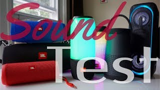Sound Test Featuring JBL Pulse 3, Pulse 2, Charge 3, Xtreme, Flip 4, Sony XB40 & Bose Revolve Plus