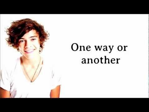 One Direction - One Way Or Another (Teenage Kicks| Comic Relief 2013) Lyrics