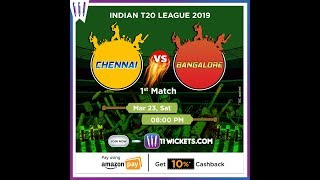 IPL T20 Fantasy 2019 | CSK vs RCB | 11Wickets
