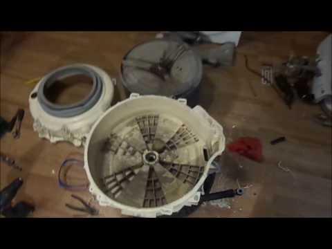Ремонт стиральной машины ARISTON arsl 100 (замена подшипников барабана).