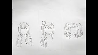 How To Draw Female Anime Hair (part 3)