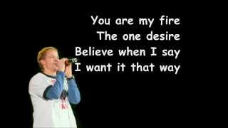 Backstreet Boys-I Want It That Way Lyric Video.wmv