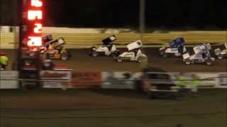 Creek County Speedway Champ Sprint A Main 8/30/14