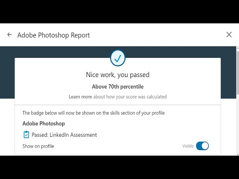 Linkedin Adobe Photoshop Test Passed in 2020   Q&A   Above 70th ...