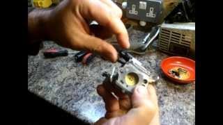 Stihl MS200 Chainsaw Carburetor Removal, Clean & Refit