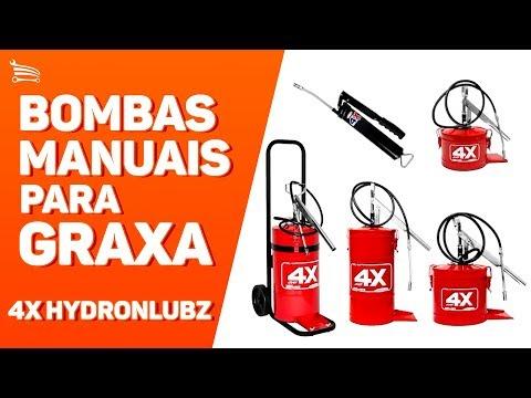 Bomba Manual para Graxa 4kg Vermelho HL-4 - Video