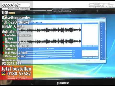 USB-Kassettenrecorder für MC- & MP3-Aufnahmen (refurbished)