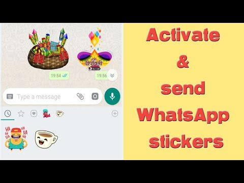 Send Stickers on WhatsApp - Activation tutorial