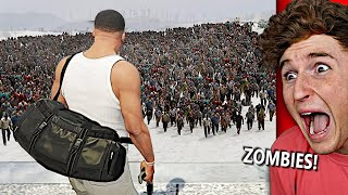 MASSIVE Zombie Hoard FOLLOWS ME In GTA 5.. (TERRIFYING)