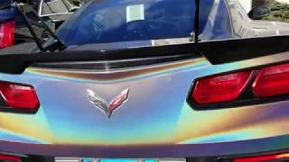 2017 CORVETTE STINGRAY ZR1 MOD Psychedelic Vinyl Wrap! COLOR BURSTS!