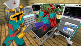 MC NAVEED DOES SURGERY ON A BLOOD ZOMBIE MOD / DON'T CUT THE WRONG BRAIN OUT !! Minecraft Mods