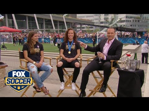 Tobin Heath and Lauren Holiday talk about their goals in the final