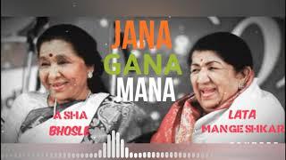 NATIONAL ANTHEM in voice of LATA & ASHA JI | Jai Hind |
