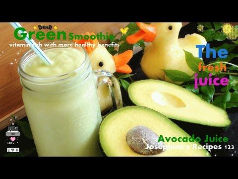 Video How to Make Avocado Juice 牛油果汁 Green Smoothie - JosephineRecipes.co.uk
