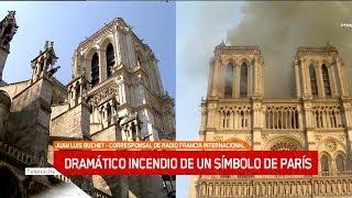 NOTRE DAME: Dramático Incendio De Un Símbolo De París