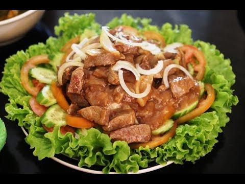 របៀបឆាសាច់គោឡុកឡាក How To Make Khmer Dice Beef Lok Lak Cambodian Super Food