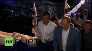 Russia: Putin and Medvedev attend 6th international Sambo tournament in Sochi